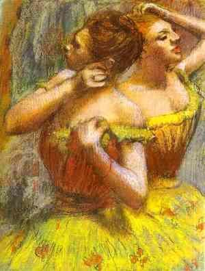 Two Dancers (pastel on paper)
