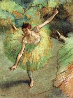 Edgar Degas - Dancer Tilting