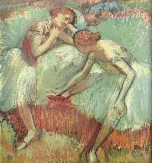 Edgar Degas - Two Dancers at Rest (Dancers in Blue)