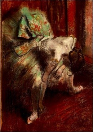 Edgar Degas - Dancer in Green Tutu