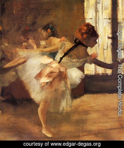 Edgar Degas - Repetition of the Dance (detail)