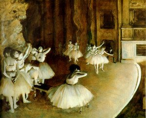 Edgar Degas - Ballet Rehearsal On Stage