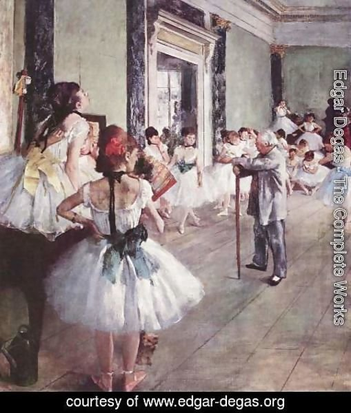 Edgar Degas - The Dance Class 1873-76