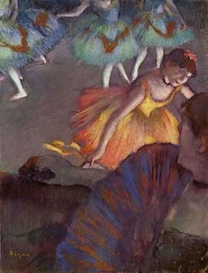 Edgar Degas - Ballerina And Lady With A Fan