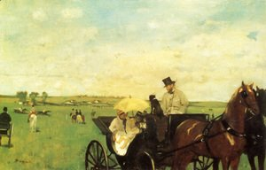 Edgar Degas - A Carriage At The Races