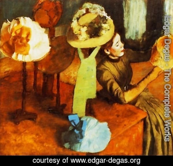 Edgar Degas - The Millinery Shop 1882-86