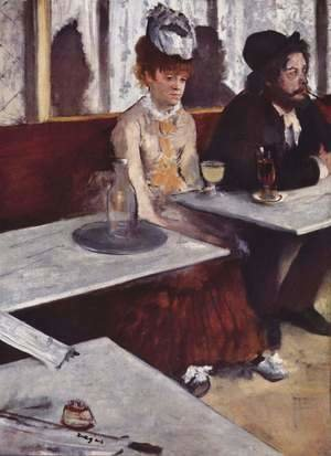 Edgar Degas - In a Cafe (The Absinthe Drinker) 1875-76