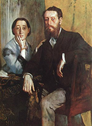 Edgar Degas - The Duke and Duchess Morbilli 1865