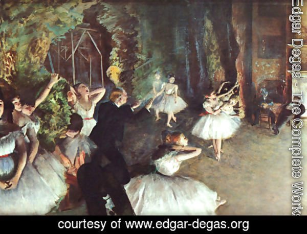 Edgar Degas - Rehearsal on the Stage 1878-79