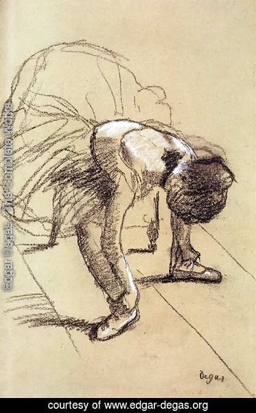 Edgar Degas - Seated Dancer Adjusting Her Shoes