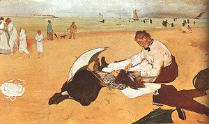 Edgar Degas - At the Beach 1876