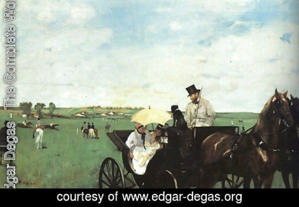 Edgar Degas - At The Races In The Country