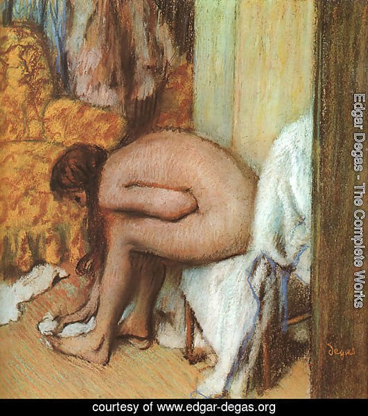 After the Bath- Woman Drying her feet 1886