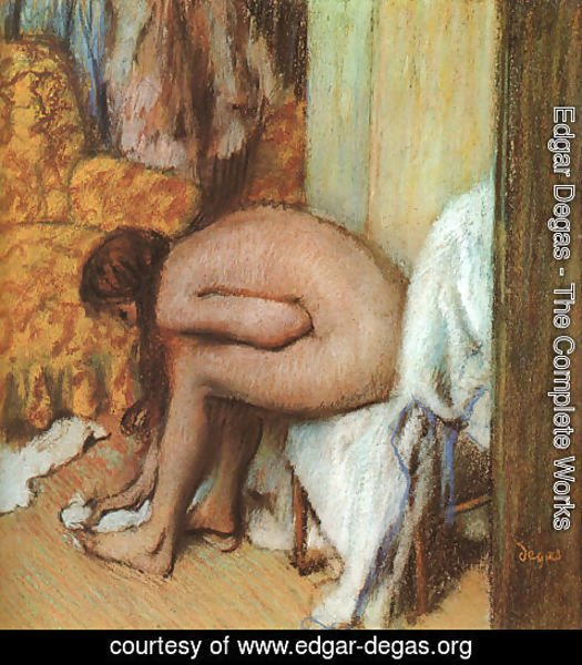 Edgar Degas - After the Bath- Woman Drying her feet 1886
