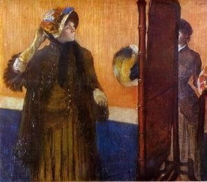 Edgar Degas - At the Milliner's 1882