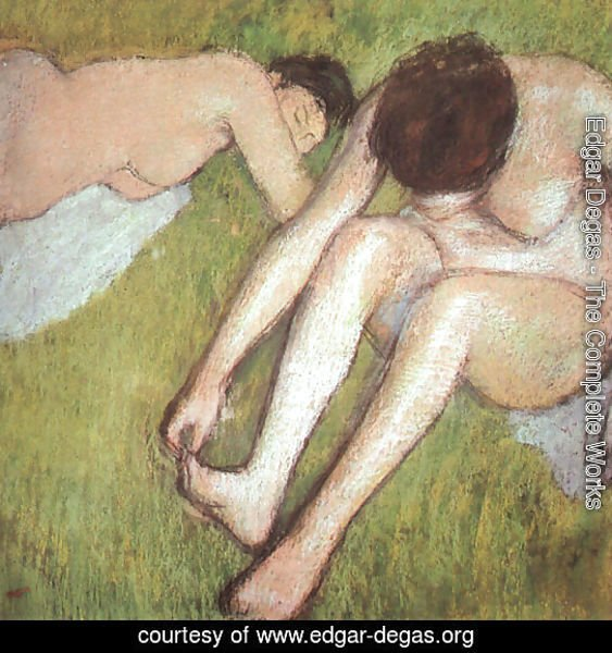 Bathers on the grass 1886-90