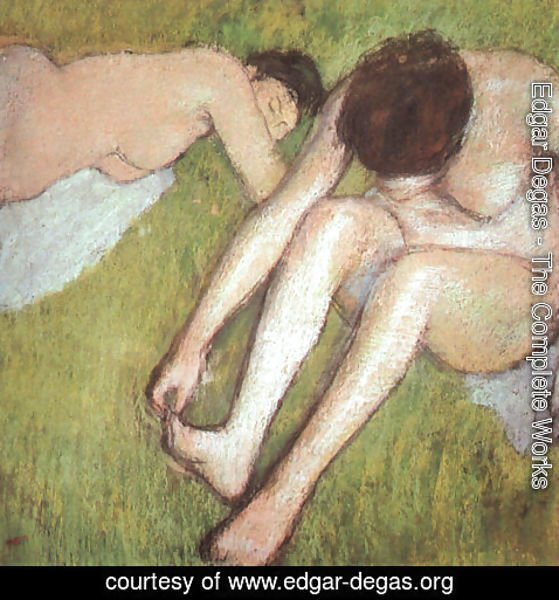 Edgar Degas - Bathers on the grass 1886-90