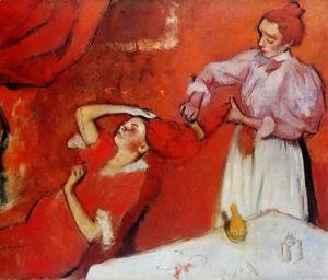 Edgar Degas - Combing the Hair (unfinished) 1895