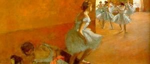 Edgar Degas - Dancers Climbing the Stairs 1886-90