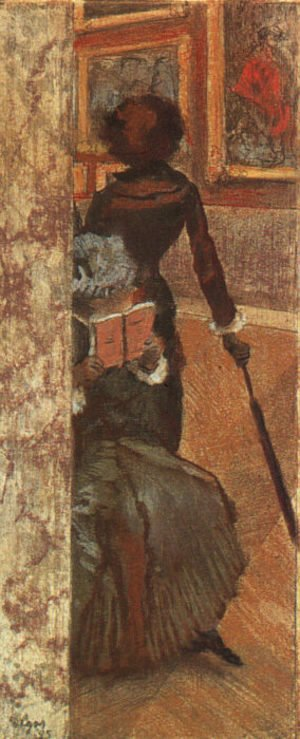 Edgar Degas - Mary Cassatt and her Sister at the Louvre 1885
