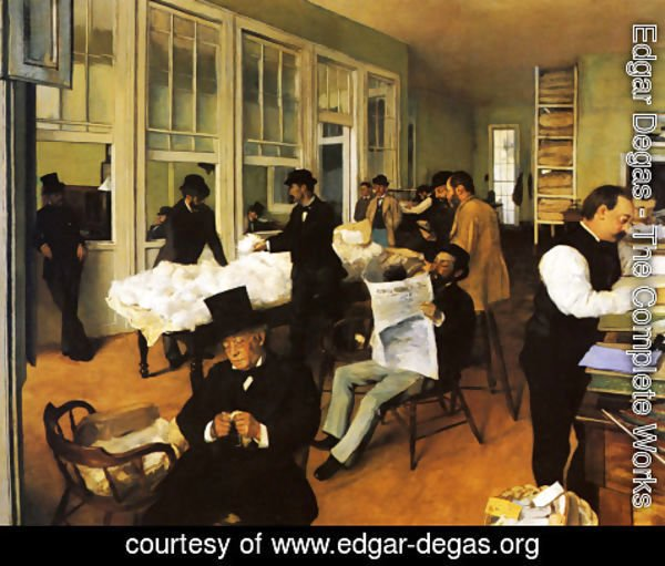 Edgar Degas - Portrait in a New Orleans Cotton Office 1873