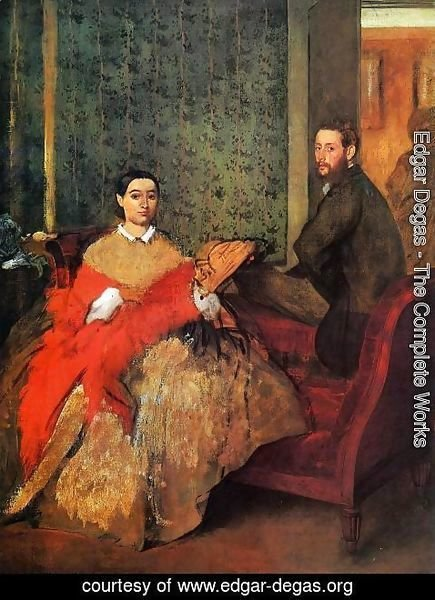 Edgar Degas - Edmondo and Therese Morbilli