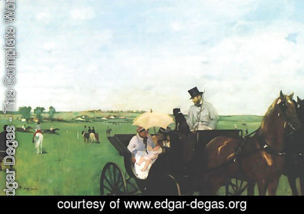 Edgar Degas - Carriage at the Races