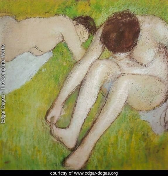 Two Bathers on the Grass
