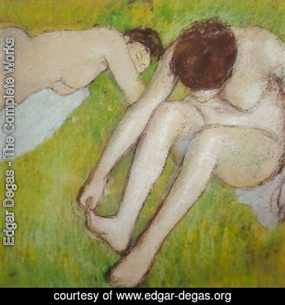 Edgar Degas - Two Bathers on the Grass
