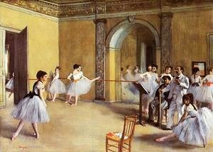 Edgar Degas - Dance Class at the Opera, rue Le Peletier