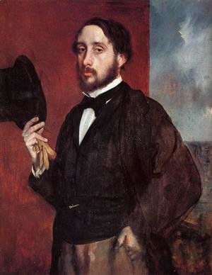 Self-Portrait: Degas Lifting His Hat