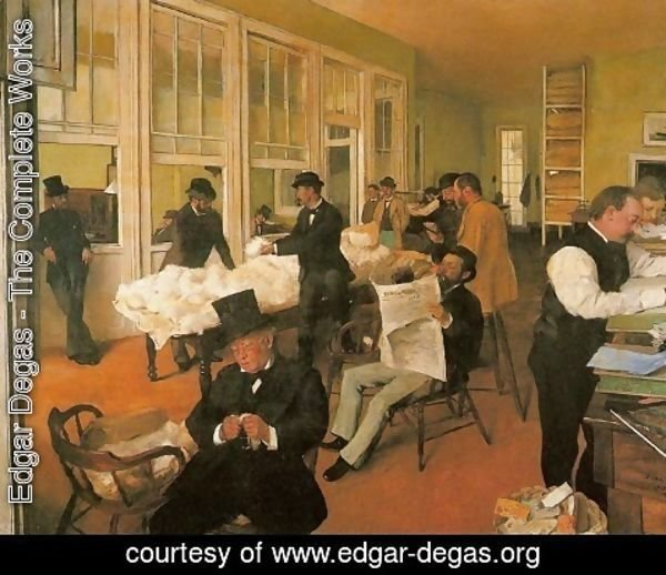 Edgar Degas - Portraits in an Office (New Orleans)