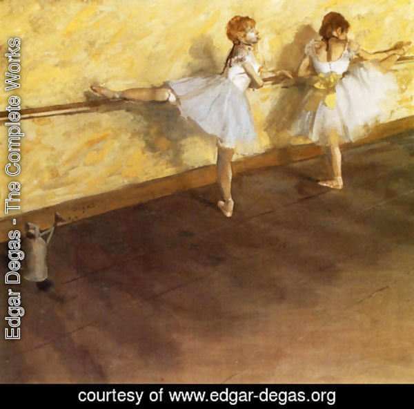 Edgar Degas - Dancers Practicing at the Barre