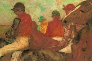 Edgar Degas - Horses with Jockeys