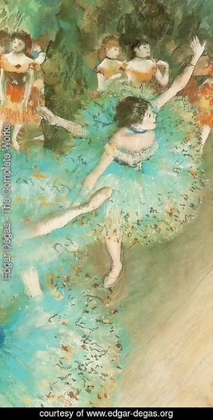 Edgar Degas - Green Dancer